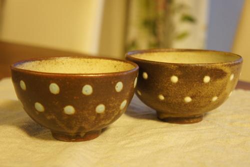 益子焼の楕円皿と飯碗。_d0153459_2333683.jpg