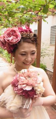アーティフィシャルフラワー(造花)の2way  ブーケ♫_e0149863_1315448.jpg