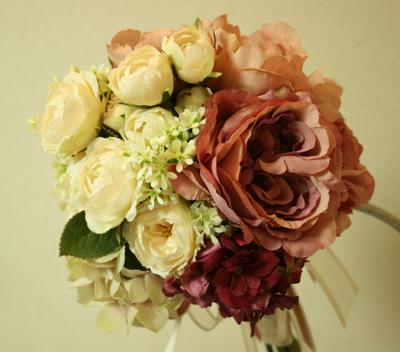 アーティフィシャルフラワー(造花)の2way  ブーケ♫_e0149863_1341993.jpg