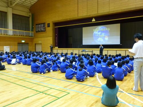 保育園と中学校の合同防災訓練を行いました!_c0238069_939196.jpg