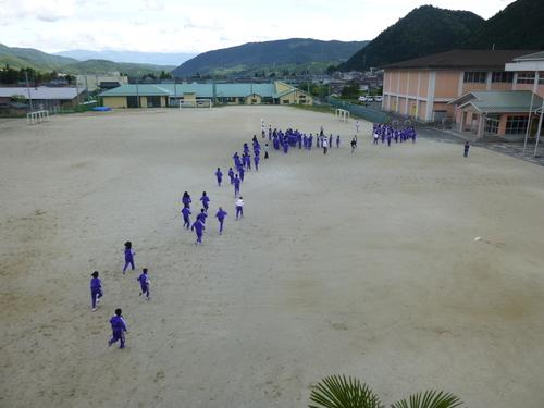 保育園と中学校の合同防災訓練を行いました!_c0238069_942163.jpg
