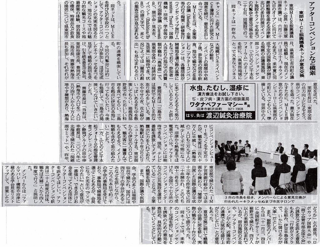「アフターコンベンションなど模索」~新聞記事より_d0050503_8364314.jpg