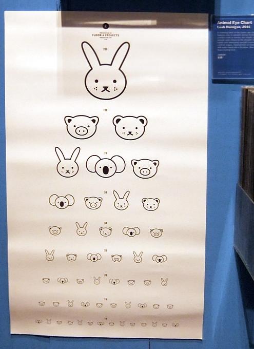MoMAストアで見つけたカワイイ動物の顔の視力検査表 Animal Eye Chart_b0007805_9454746.jpg
