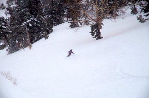 【滑走レポ 2013.4.22】 4月下旬の新雪に道中ドキドキ(笑)@かぐら_e0037849_9143857.jpg
