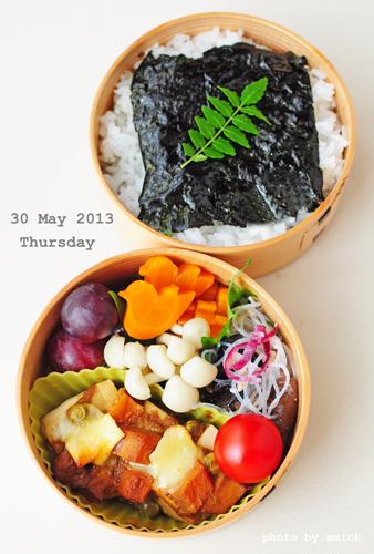 5月30日 木曜日 のりべん&高野豆腐のカレーグラタン_b0288550_1132167.jpg