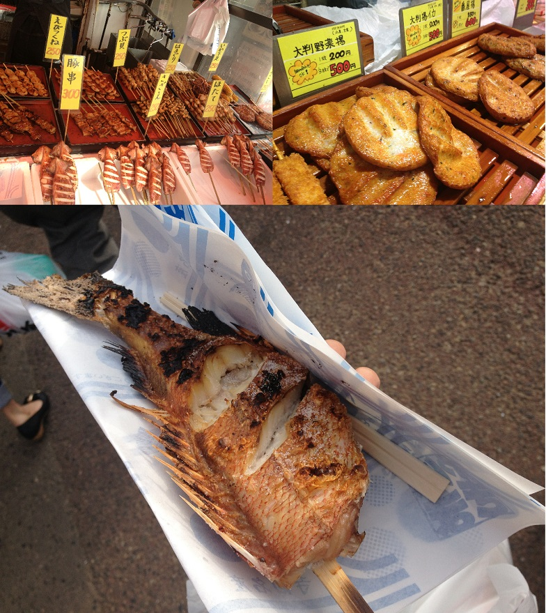 新潟アルバム③~@魚のアメ横 海を見ながら食べるのがオススメ♪~_f0096569_76567.jpg