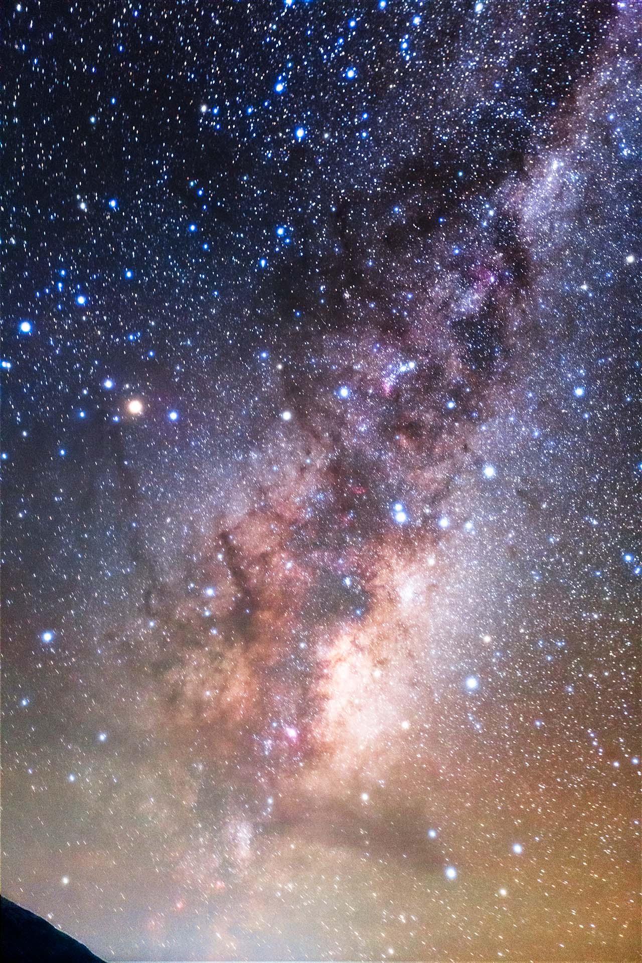 天の川の中心 夜空
