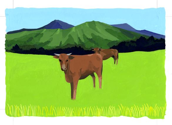 ANA翼の王国6月号 吉田修一・エッセイ「空の冒険」のイラストレーション_c0075725_13234070.jpg