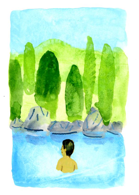 ANA翼の王国6月号 吉田修一・エッセイ「空の冒険」のイラストレーション_c0075725_13243082.jpg