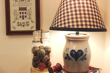 Rowe Pottery もランプにしてみました♪_f0161543_1565728.jpg