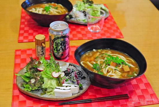 5月31日 金曜日 エスニック風サラダ麺&はんぺん海苔サンド_b0288550_115930.jpg