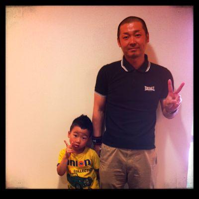 人 × 髪 〜PUNKな父と息子さん編〜_a0133078_12331886.jpg