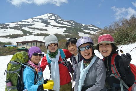 2013年5月31日残雪豊富な鳥海山祓川口コースで春スキーを楽しむ_c0242406_14303926.jpg
