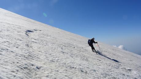 2013年5月31日残雪豊富な鳥海山祓川口コースで春スキーを楽しむ_c0242406_1633187.jpg