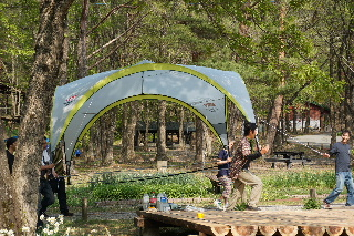 田沢湖キャンプ場 ウッドデッキプロジェクト その3_f0105112_20254377.jpg