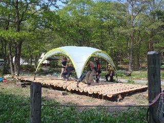 田沢湖キャンプ場 ウッドデッキプロジェクト その3_f0105112_2026875.jpg