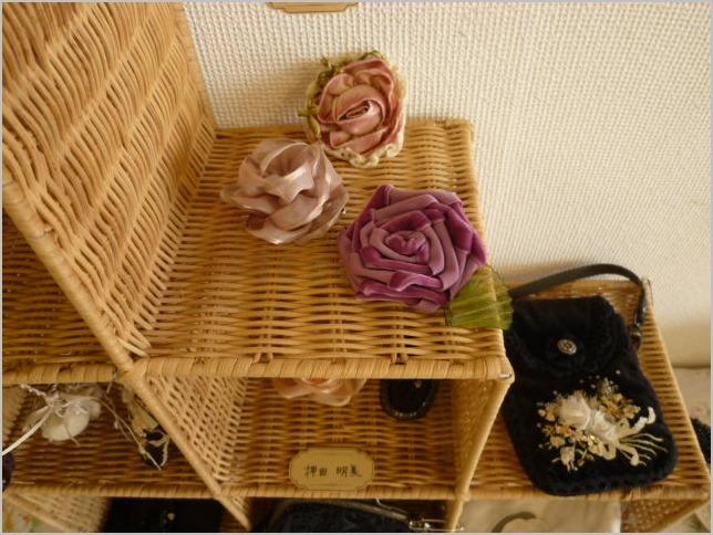 6/20(木)まで リボンカフェ作品展 リボン刺繍とリボン小物_b0151508_1640164.jpg