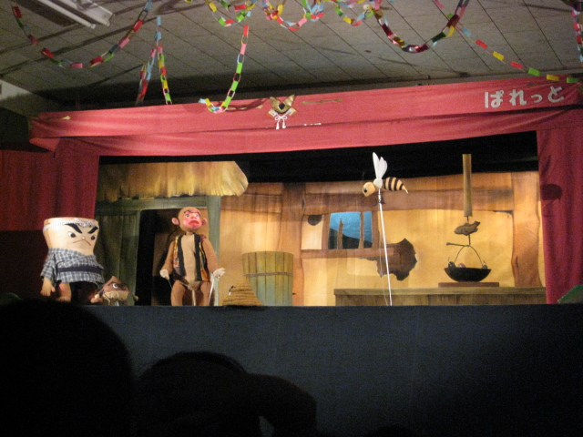 人形劇『さるかに合戦』_c0107515_21344521.jpg