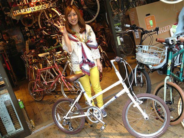 今日のバイシクルガール ☆二本立て☆ 女子 ミニベロ RALEIGH MASI_b0212032_21442732.jpg