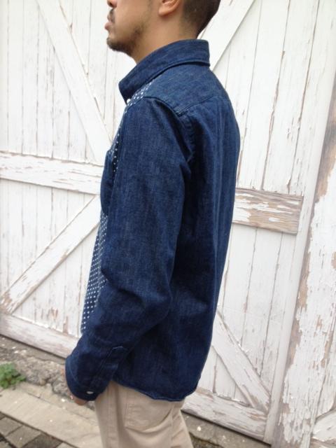 本藍デニムX水玉ガーゼボタンダウンシャツ 限定発売!_d0108933_18214154.jpg