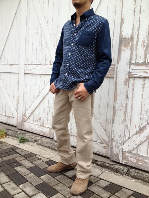 本藍デニムX水玉ガーゼボタンダウンシャツ 限定発売!_d0108933_1825109.jpg
