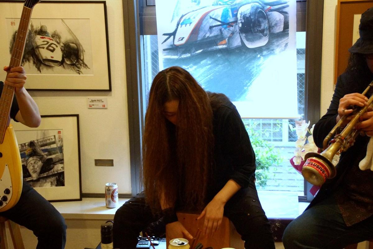 「墨ぐらんぶり 垂井ひろし展」パーティー@COFFEE&GALLERY ゑいじう_f0006713_22263681.jpg
