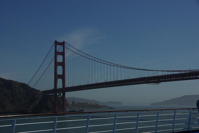 サンフランシスコ入港 Golden Gate Bridge, SF_e0140365_23522797.jpg