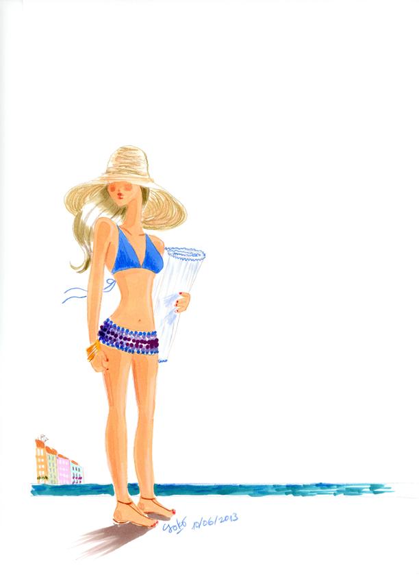 地中海の思い出画/100%ビキニ?_e0262430_16505848.jpg