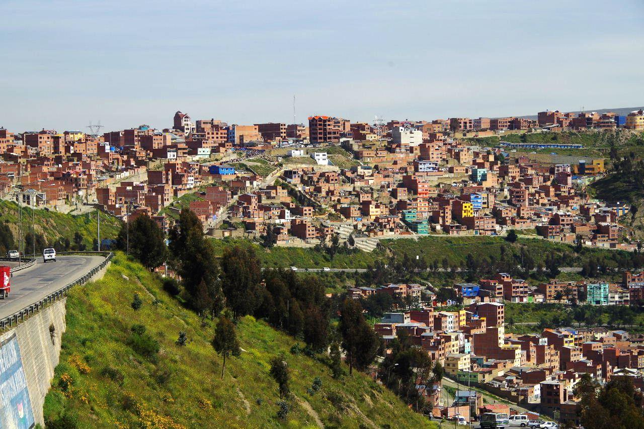 ボリビアの旅(37) 展望台から眺めたラパスの風景_c0011649_13261613.jpg