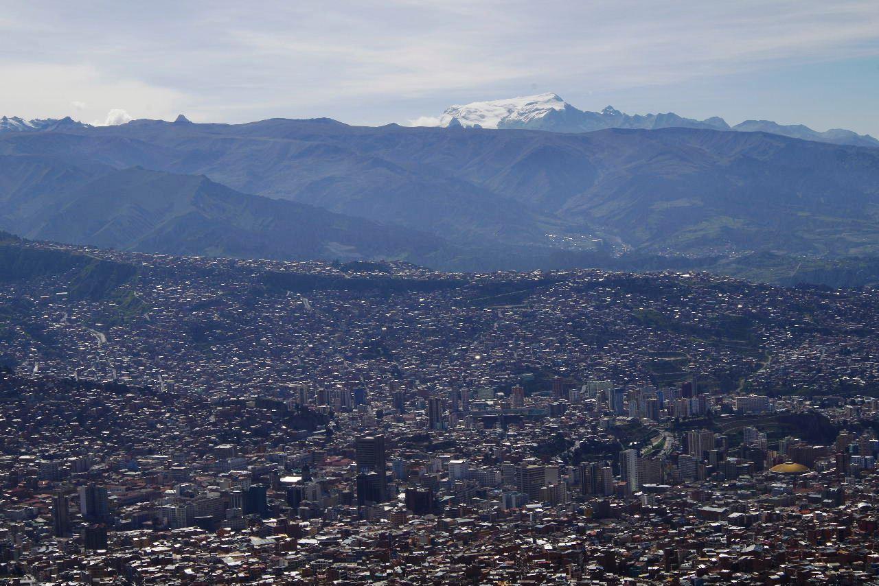 ボリビアの旅(37) 展望台から眺めたラパスの風景_c0011649_7343778.jpg