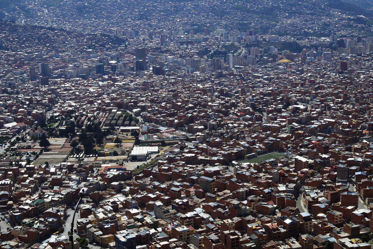 ボリビアの旅(37) 展望台から眺めたラパスの風景_c0011649_7353782.jpg