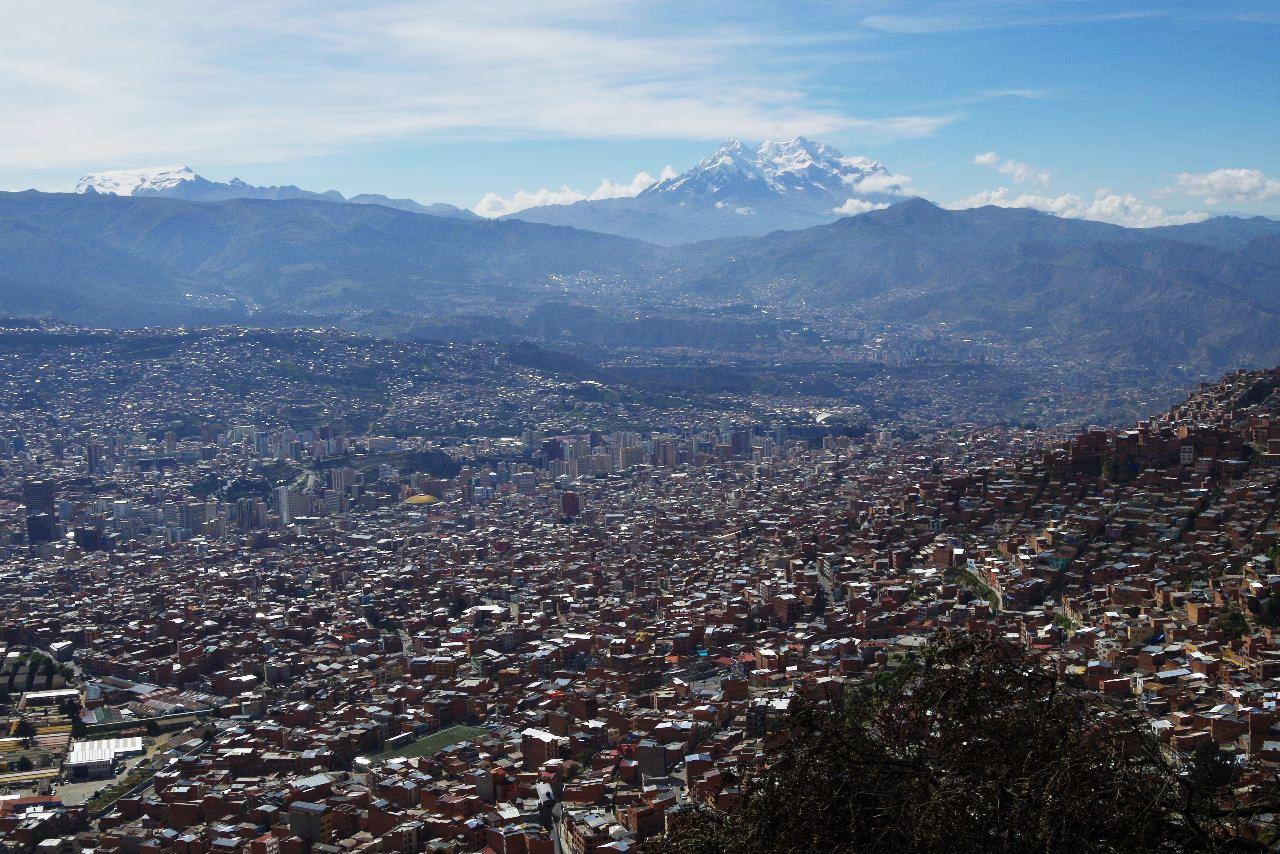 ボリビアの旅(37) 展望台から眺めたラパスの風景_c0011649_7405910.jpg