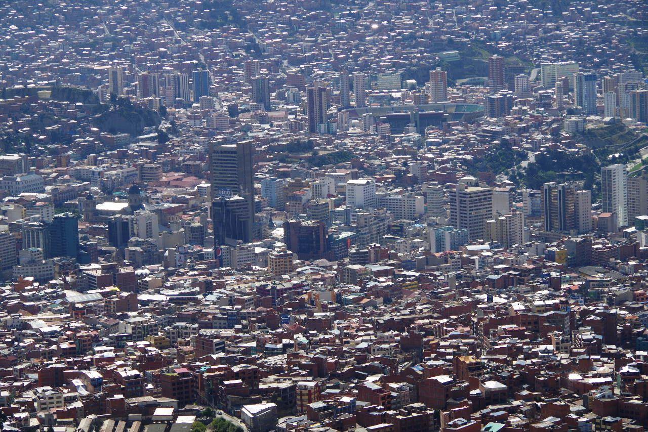 ボリビアの旅(37) 展望台から眺めたラパスの風景_c0011649_742310.jpg