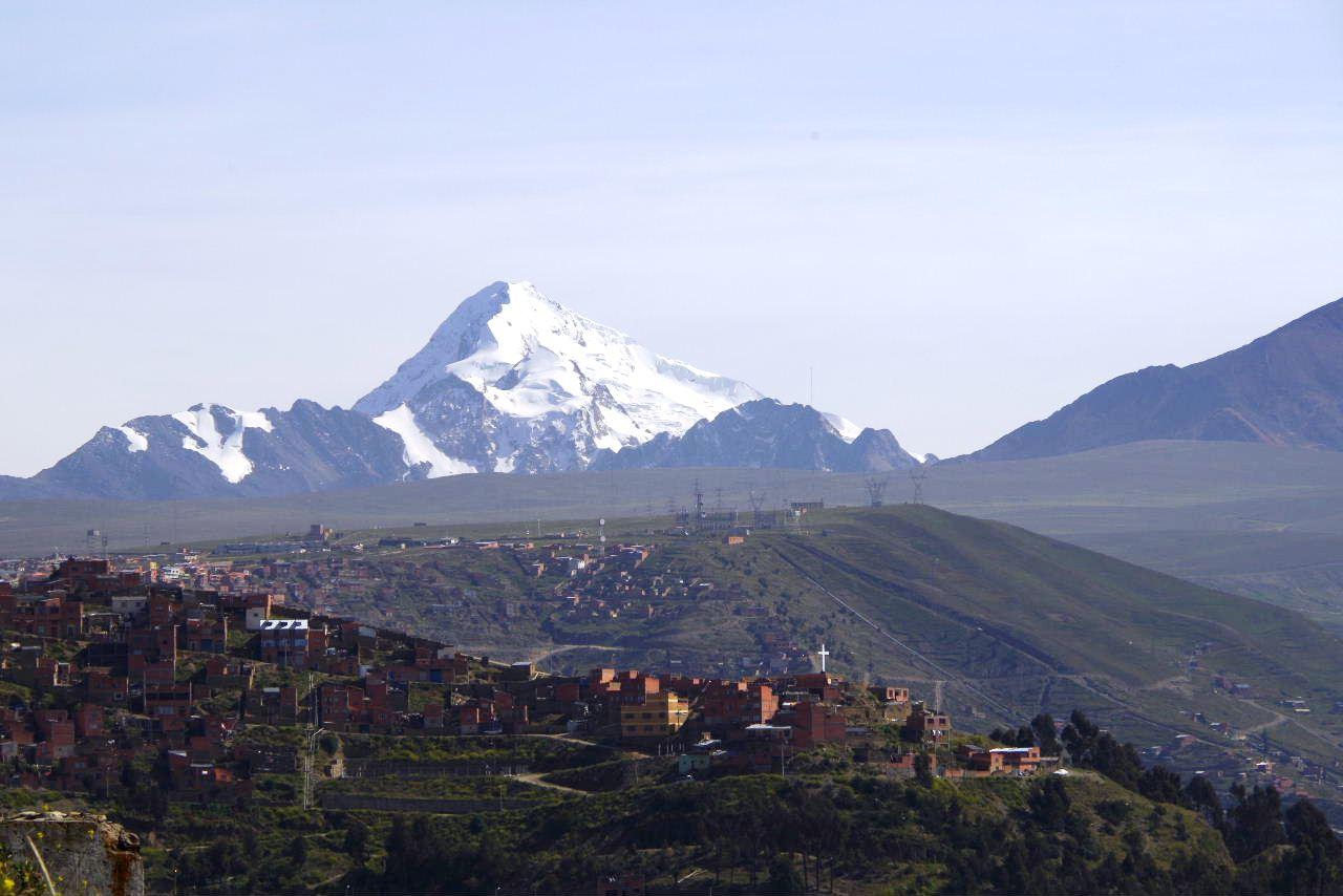 ボリビアの旅(37) 展望台から眺めたラパスの風景_c0011649_7433714.jpg
