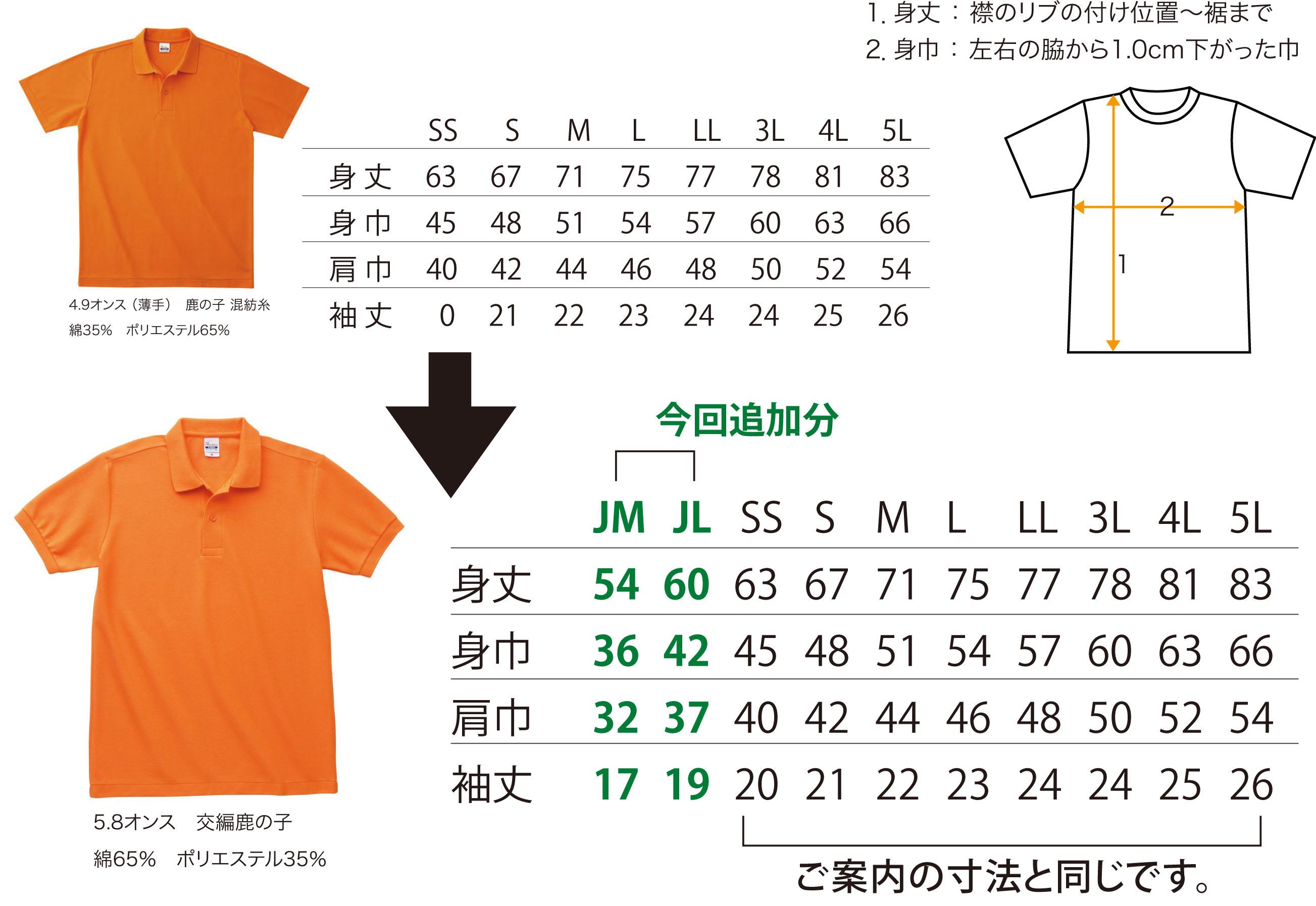 ポロシャツのサイズについて_a0255513_6121566.jpg