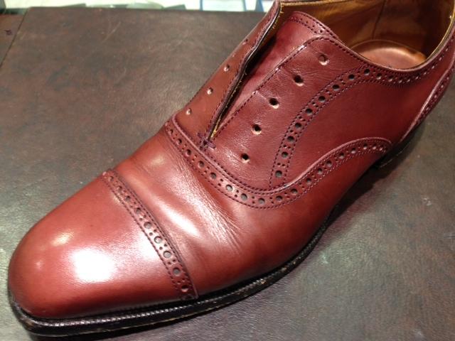 革靴を水洗い_b0226322_1246375.jpg
