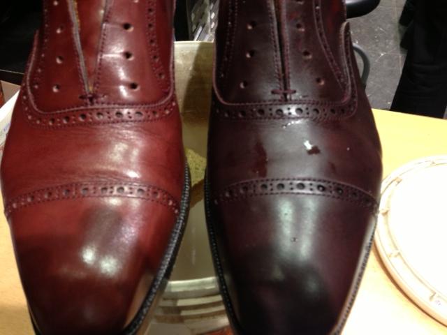 革靴を水洗い_b0226322_1248772.jpg