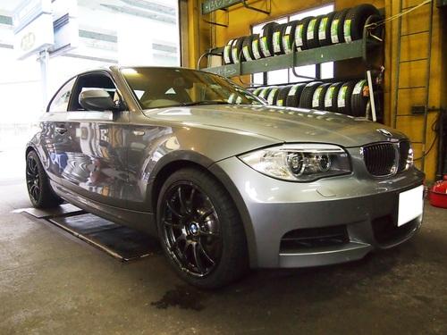 BMW135iにホイールを装着です。_e0188729_18244775.jpg