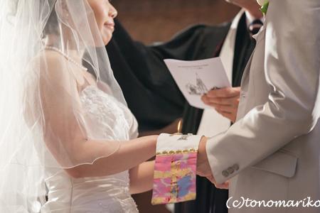 結婚式の長い1日、笑顔で終了〜。_c0024345_6554783.jpg