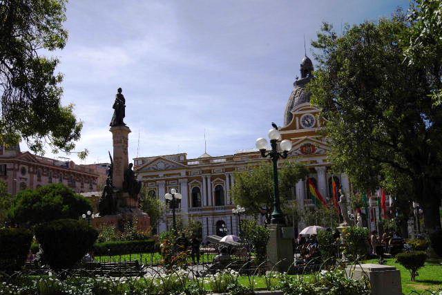 ボリビアの旅(39) 【ラパス】 ラパスの中心 ムリーリョ広場_c0011649_23192973.jpg