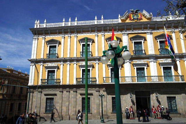 ボリビアの旅(39) 【ラパス】 ラパスの中心 ムリーリョ広場_c0011649_23241945.jpg