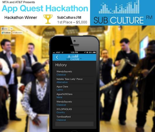NY都市交通局のアプリコンテスト(MTA App Quest)の新イベント、ハッカソン優勝者はSubCulture.FM_b0007805_013854.jpg