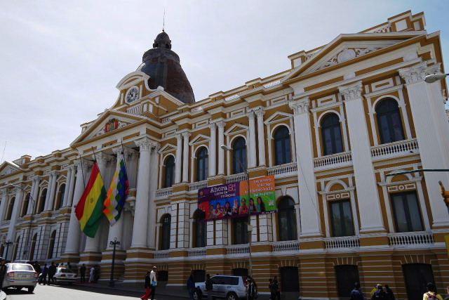 ボリビアの旅(39) 【ラパス】 ラパスの中心 ムリーリョ広場_c0011649_304980.jpg