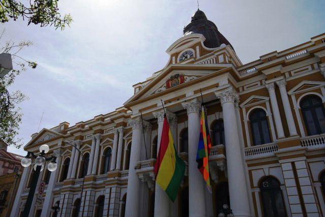 ボリビアの旅(39) 【ラパス】 ラパスの中心 ムリーリョ広場_c0011649_312243.jpg