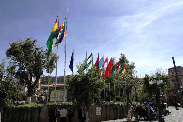ボリビアの旅(39) 【ラパス】 ラパスの中心 ムリーリョ広場_c0011649_6103897.jpg