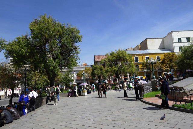 ボリビアの旅(39) 【ラパス】 ラパスの中心 ムリーリョ広場_c0011649_6144911.jpg