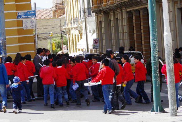 ボリビアの旅(39) 【ラパス】 ラパスの中心 ムリーリョ広場_c0011649_682538.jpg