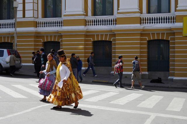 ボリビアの旅(39) 【ラパス】 ラパスの中心 ムリーリョ広場_c0011649_68842.jpg