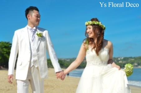 緑色の花冠&ブートニア バリ島挙式のおふたりへ_b0113510_17152389.jpg