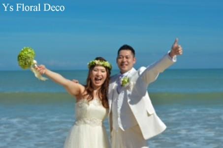 緑色の花冠&ブートニア バリ島挙式のおふたりへ_b0113510_17153979.jpg